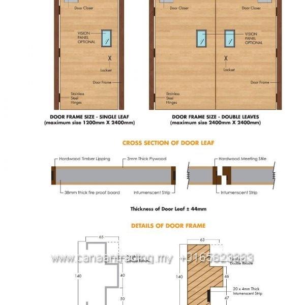 Fire Resistant Doorset System 1 Hour