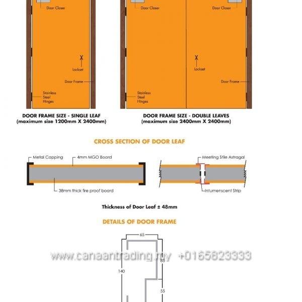 Fire Resistant Doorset System 2 Hour
